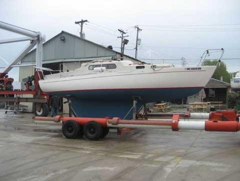 Sailboat on trailer